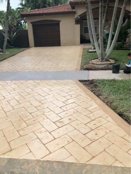 stamped concrete driveway in miami FL